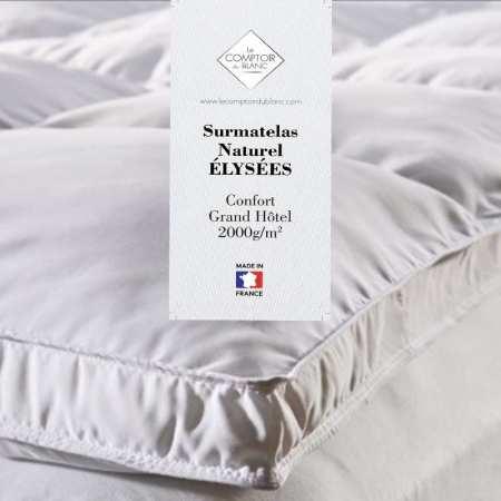 Surmatelas de Confort Extra Moelleux Flocon 1700g/m2