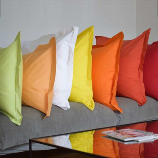 Taie d'oreiller unie Percale 80 fils/cm² coton peigné